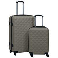 vidaXL 2-dijelni set čvrstih kovčega antracit ABS