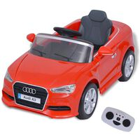 vidaXL Električni Autić s Daljinskim Upravljačem Audi A3 Crveni