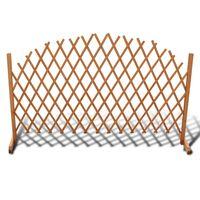 vidaXL Rešetkasta ograda od masivnog drva 180 x 100 cm