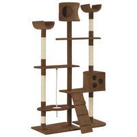 vidaXL Penjalica za mačke sa stupovima za grebanje smeđa 180 cm