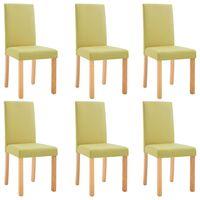 vidaXL Blagovaonske stolice od tkanine 6 kom zelene