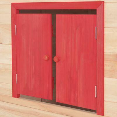 vidaXL Dječja kućica za igru od jelovine crvena