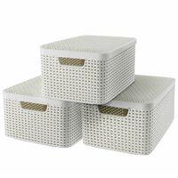 Curver kutije za pohranu Style s poklopcem 3 kom vel. M bijele 240654