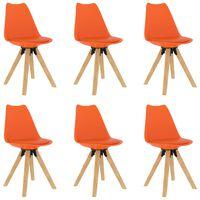 vidaXL Blagovaonske stolice 6 kom narančaste