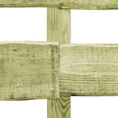 vidaXL Vrtna ograda s 2 prečke od impregnirane borovine 90 x 510 cm