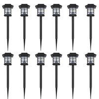 Vanjska solarna LED lampa 12 kom sa šiljcima 8,6 x 8,6 x 38 cm