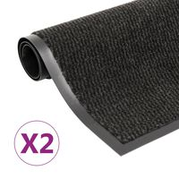 vidaXL Otirači za prašinu 2 kom pravokutni čupavi 40 x 60 cm crni