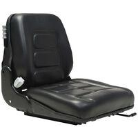 vidaXL Sjedalo za viličar i traktor sa suspenzijom i podesivim naslonom