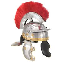 vidaXL Antikna replika rimske vojničke kacige za LARP srebrna čelična