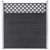 vidaXL Vrtna ograda od WPC-a 180 x 185 cm siva
