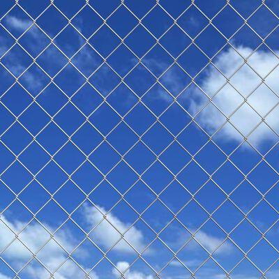 vidaXL Žičana ograda od pocinčanog čelika sa šiljcima 15 x 1,5 m