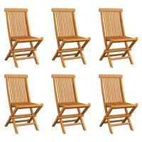 vidaXL Sklopive vrtne stolice 6 kom od masivne tikovine