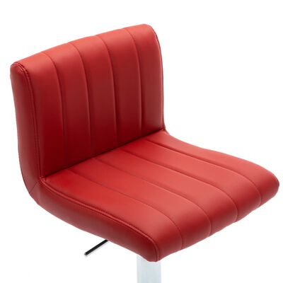 vidaXL Barski stolci od umjetne kože 2 kom crvena boja vina