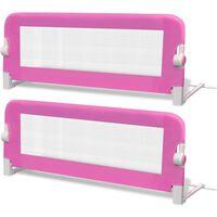 vidaXL Sigurnosna ogradica za dječji krevet 2 kom ružičasta 102 x 42 cm