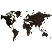 MiMi Innovations zidna drvena karta svijeta Luxury crna 180 x 108 cm