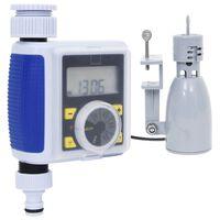 vidaXL Digitalni tajmer za vodu s jednim izlazom i senzorom za kišu