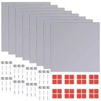 vidaXL Zrcalne pločice bez okvira staklene 16 kom 20,5 cm