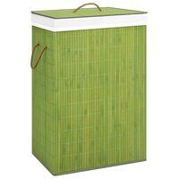 vidaXL Košara za rublje od bambusa zelena