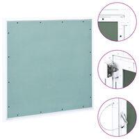 vidaXL Pristupna ploča s aluminijskim okvirom i gipsom 500 x 500 mm