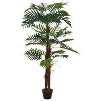vidaXL Umjetna palma s posudom zelena 165 cm