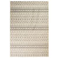 vidaXL Moderni tepih s tradicionalnim uzorkom 80 x 150 cm bež/sivi