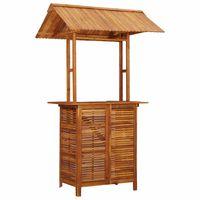 vidaXL Vrtni barski stol s krovom 122 x 106 x 217 cm bagremovo drvo