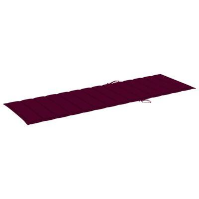 vidaXL Jastuk za ležaljku crvena boja vina 200 x 60 x 4 cm od tkanine