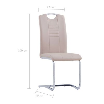 vidaXL Konzolne blagovaonske stolice od umjetne kože 4 kom cappuccino