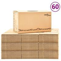 vidaXL Kutije za selidbu kartonske XXL 60 kom 60 x 33 x 34 cm