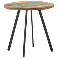 vidaXL Blagovaonski stol 80 cm od masivnog obnovljenog drva