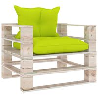 vidaXL Vrtna sofa od paleta od borovine s jarko zelenim jastucima