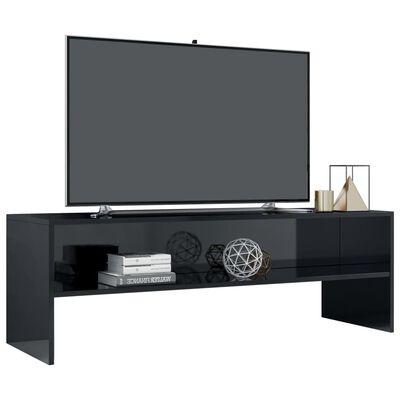 vidaXL TV ormarić od iverice visoki sjaj crni 120 x 40 x 40 cm