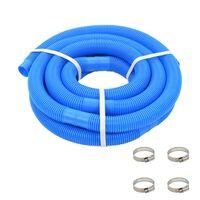 vidaXL Crijevo za bazen sa stezaljkama plavo 38 mm 6 m