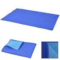 vidaXL Deka za Piknik Plava i Svijetlo Plava 100x150 cm