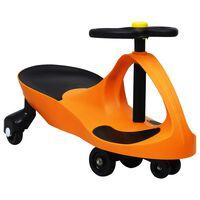 vidaXL Okretni dječji automobil na guranje s trubom narančasti
