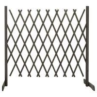 vidaXL Vrtna rešetkasta ograda siva 180 x 100 cm od masivne jelovine