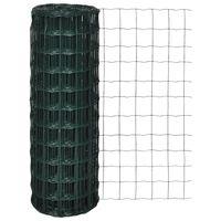 vidaXL Euro ograda čelična 25 x 1,0 m zelena