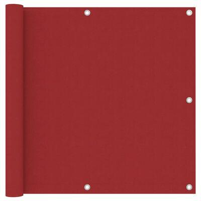 vidaXL Balkonski zastor crveni 90 x 400 cm od tkanine Oxford