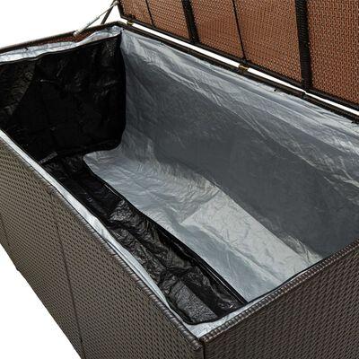 vidaXL Vrtna kutija za pohranu od poliratana 180 x 90 x 75 cm smeđa