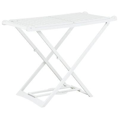 vidaXL Sklopivi stalak za sušenje odjeće bijeli plastični
