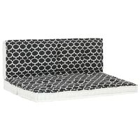 vidaXL Set vrtnih paletnih jastuka 2 kom s uzorkom