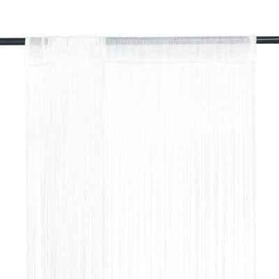 vidaXL Končane Zavjese 2 kom 100x250 cm Bijele