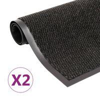 vidaXL Otirači za prašinu 2 kom pravokutni čupavi 90 x 150 cm crni
