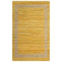 vidaXL Ručno rađeni tepih od jute žuti 160 x 230 cm