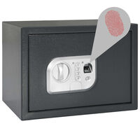 vidaXL Digitalni sef s otiskom prsta tamnosivi 35 x 25 x 25 cm