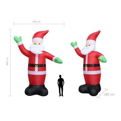 vidaXL Djed Mraz na napuhavanje LED IP44 600 cm XXL
