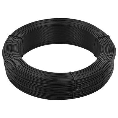 vidaXL Žica za vezanje ograde 250 m 0,9/1,4 mm čelična antracit