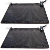 Intex solarni tepih 2 kom PVC 1,2 x 1,2 m crni 28685