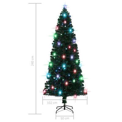vidaXL Umjetno božićno drvce sa stalkom LED 240 cm 380 grana