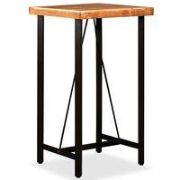 vidaXL Barski stol od masivnog bagremovog drva 60 x 60 x 107 cm